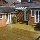 outside view of a home extension