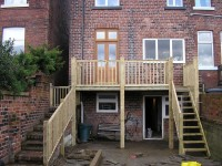 Outdoor timber staircase and balcony - after photo