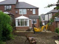 Our Latest Home Extension - before photo